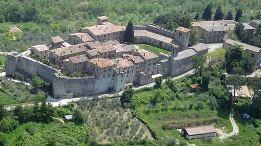 1600s Palazzo with Garden and Watch Tower - Aerial View
